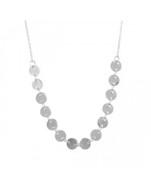 Necklace luna silver finish