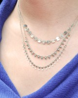 Necklace gypsy silver finish