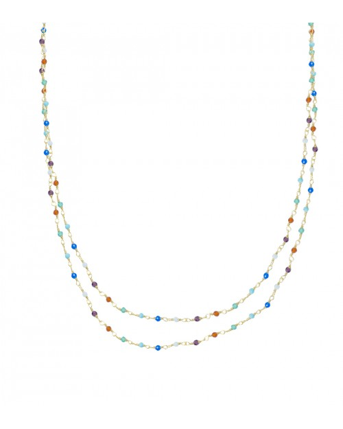 Mini Stones 3 in 1 long necklace