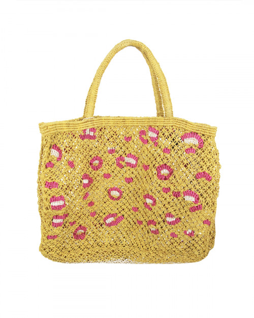 SAC THE JACKSONS - LEOPARD - MOUTARDE / ROSE